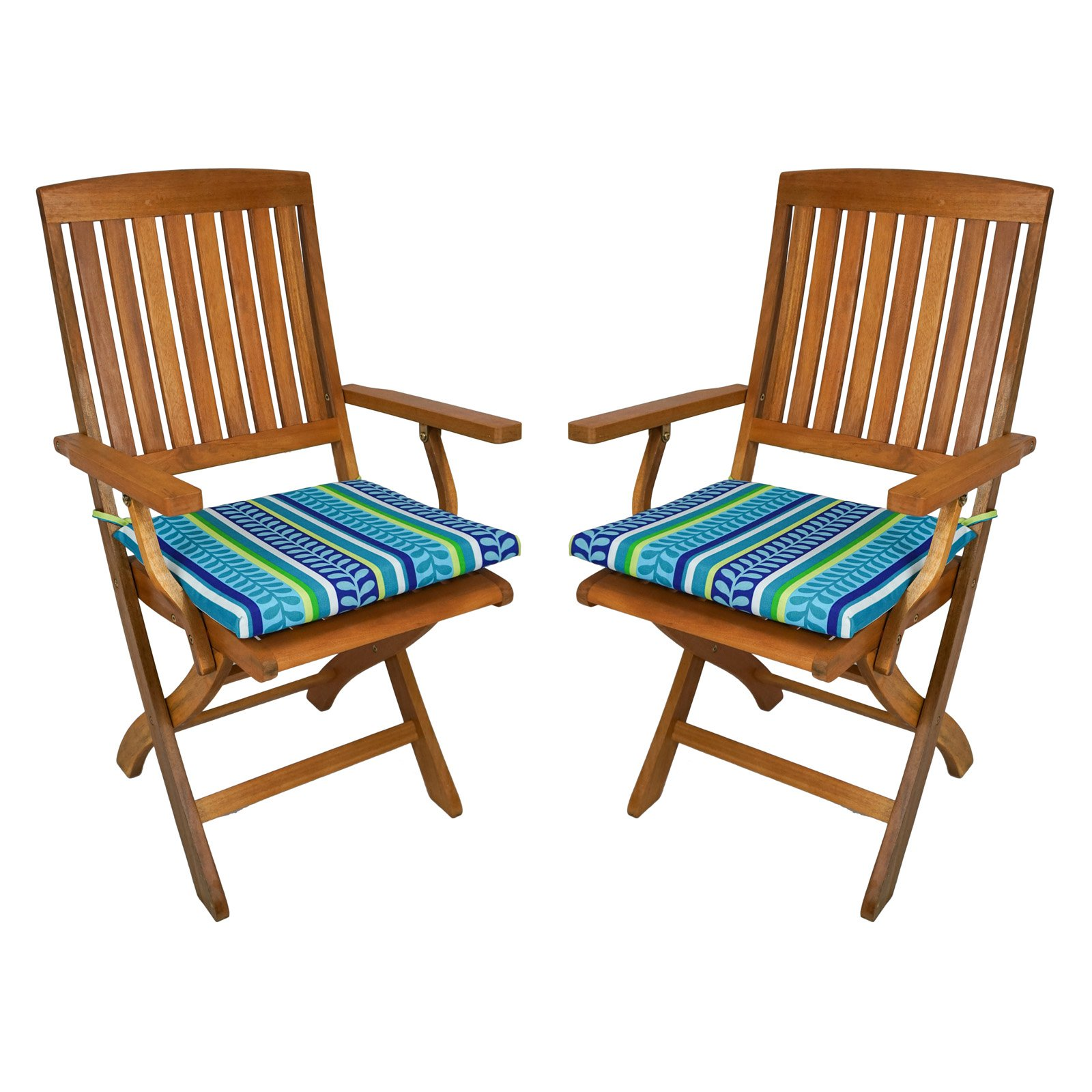 folding chair with cushion stool bar blazing needles outdoor 17 5 x 15 in set of 2