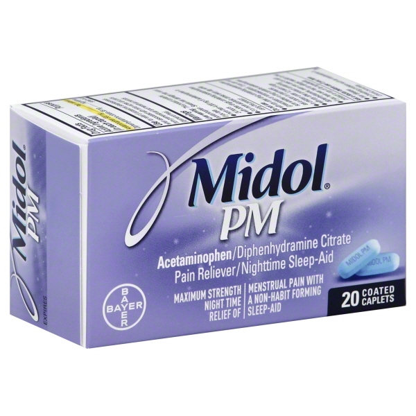 Bayer Consumer Care Midol PM Pain Reliever/Nighttime Sleep ...
