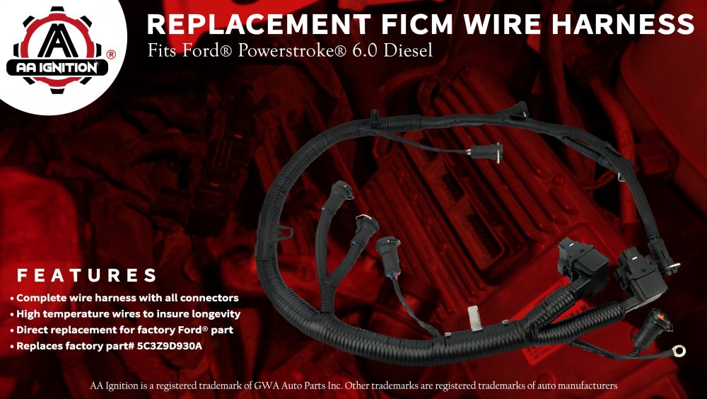medium resolution of ficm engine fuel injector complete wire harness replaces part 5c3z9d930a ford powerstroke 6 0l diesel 2003 2004 2005 2006 2007 f250 f350 f450