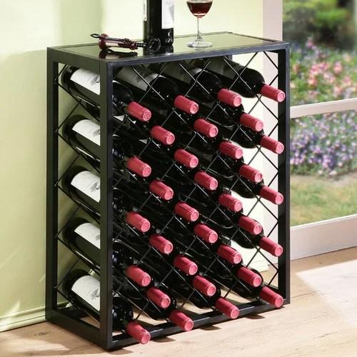 mango steam 32 bottle floor wine rack