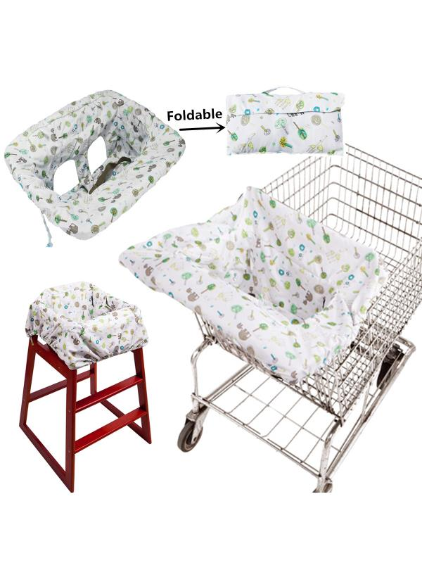 padded high chair linen dining room slip covers baby kids toddler anti dirty supermarket shopping cart seat departments