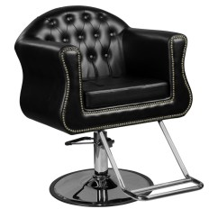 Round Base Chair And A Half With Ottoman Young Black Beauty Salon Styling Walmart Com
