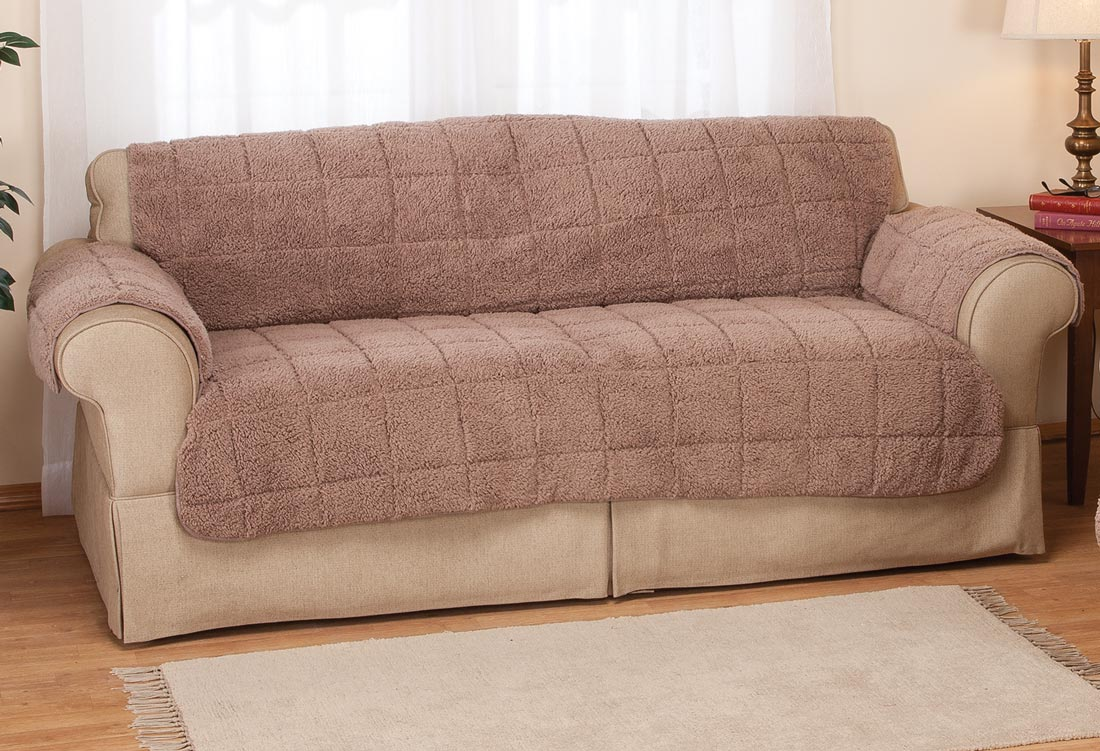 sofa waterproof cover baxter chester moon cena quilted sherpa by oakridgetm walmart com