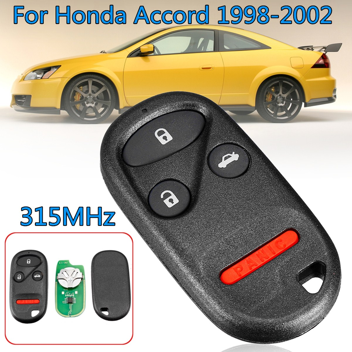 hight resolution of keyless entry remote control replacement car key with battery fob kobutah2t for honda accord 1998 2002 315mhz 4buttons