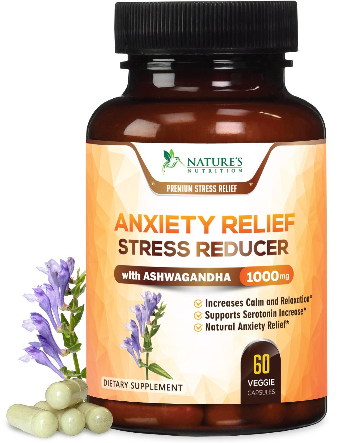 Nature's Nutrition Anxiety Relief Pills & Herbal Stress ...
