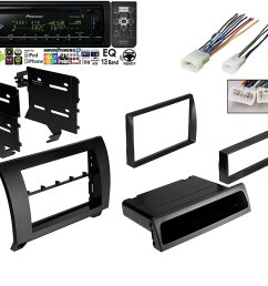 pioneer deh x6900bt vehicle cd digital music player receivers black w car radio black dash kit harness for 2007 2013 toyota tundra sequoia wiring harness [ 1500 x 1221 Pixel ]