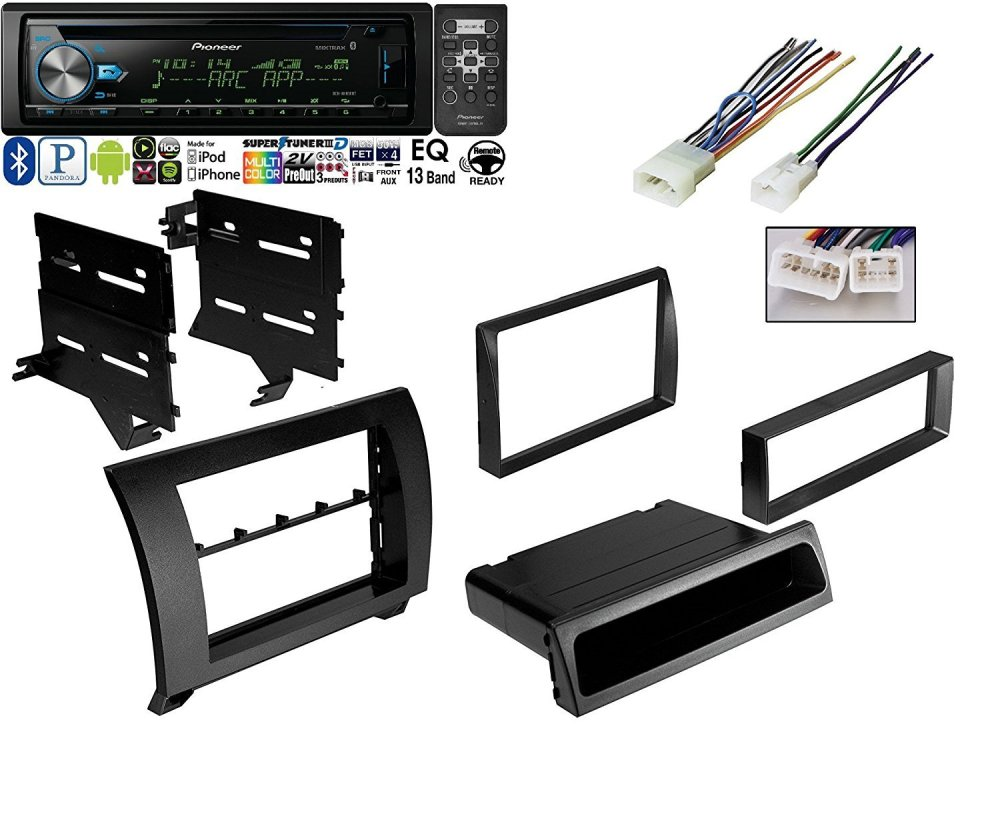 medium resolution of pioneer deh x6900bt vehicle cd digital music player receivers black w car radio black dash kit harness for 2007 2013 toyota tundra sequoia wiring harness