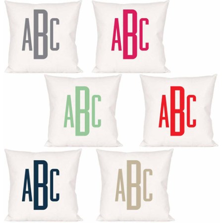 Personalized Raised Monogram Pillow