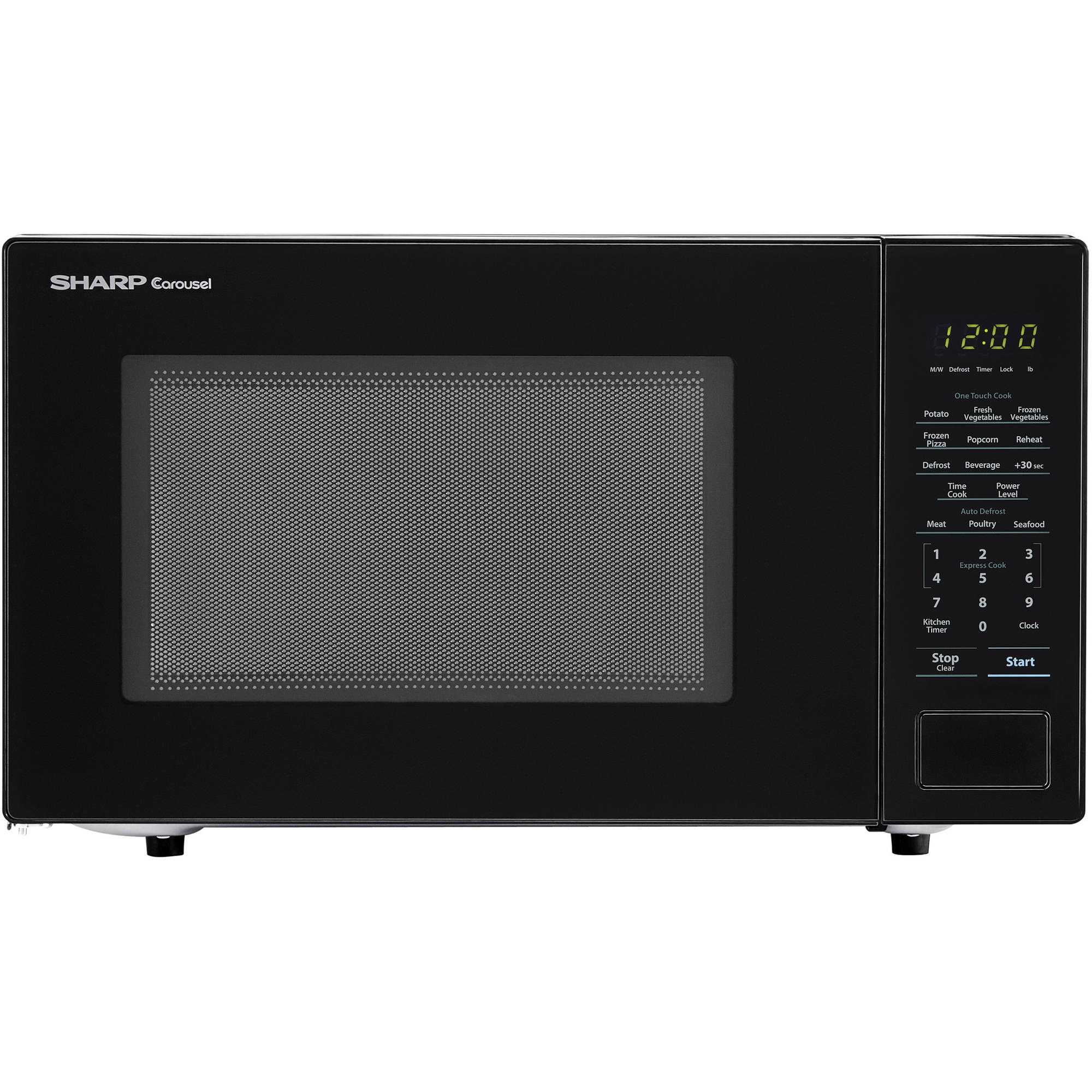 sharp zsmc1131cb 1 1 cu ft microwave black