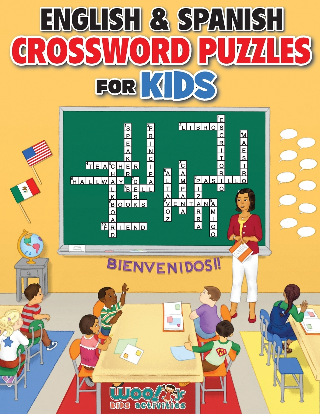 English And Spanish Crossword Puzzles For Kids