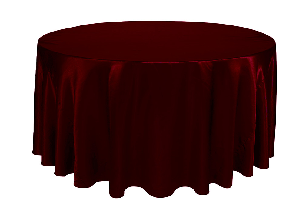 burgundy chair covers wedding royal chairs for rent your 120 inch round satin tablecloth party birthday patio etc walmart com
