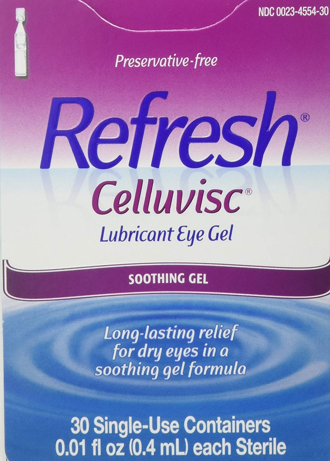 CELLUVISC Lubricant Eye Gel Single-Use Containers 30 ea ...