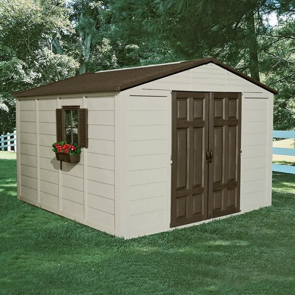 Suncast 10' X Outdoor Storage Building Shed