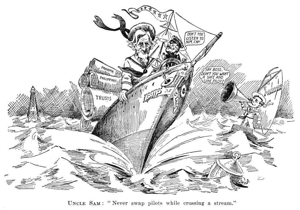 Presidential Campaign 1904 Nuncle Sam Never Swap Pilots