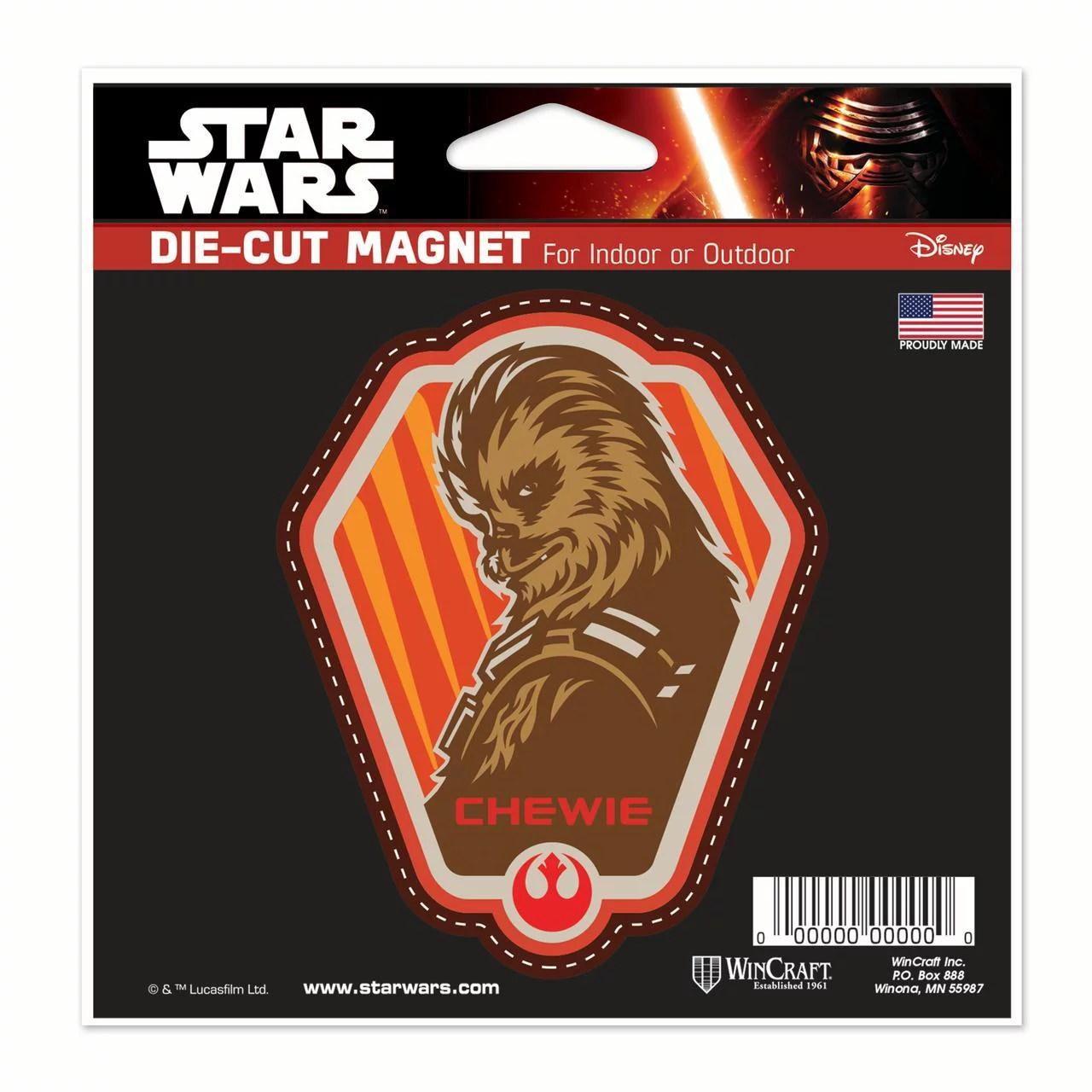 Star Wars Chewie Car Refrigerator Magnet 5x5 By Wincraft