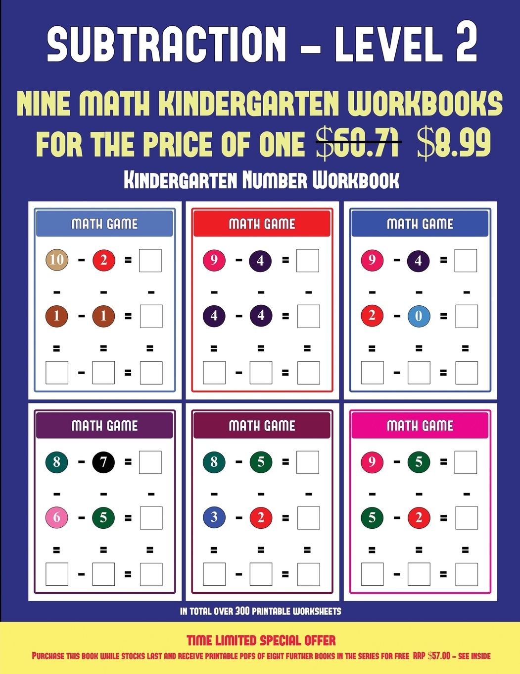 Kindergarten Number Workbook Kindergarten Subtraction