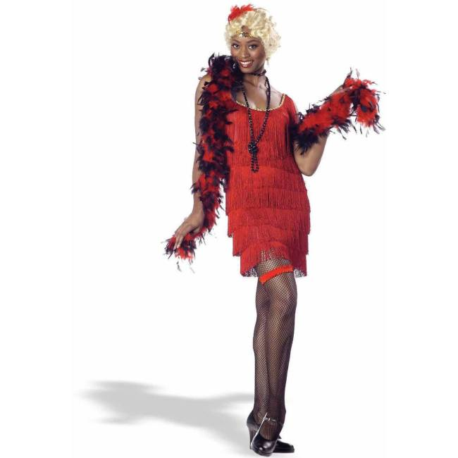 Fashion Flapper Red Women's Adult Halloween Costume