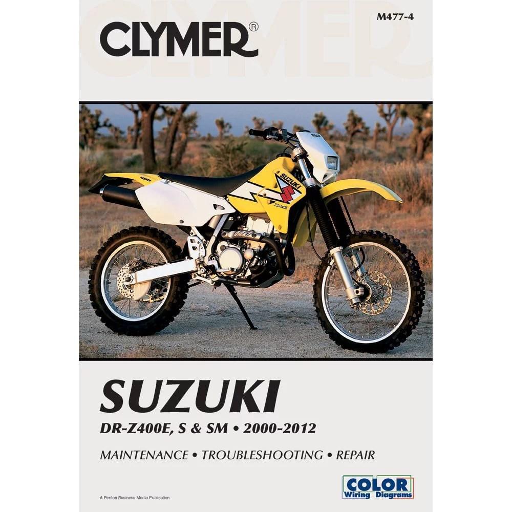 hight resolution of clymer repair service manual dr z400e s and sm 00 09 fits 00 09 rh walmart com suzuki drz 400