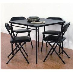 Folding Table And Chair Set Nicia Revolving Mainstays 5 Piece Card Black Walmart Com Departments