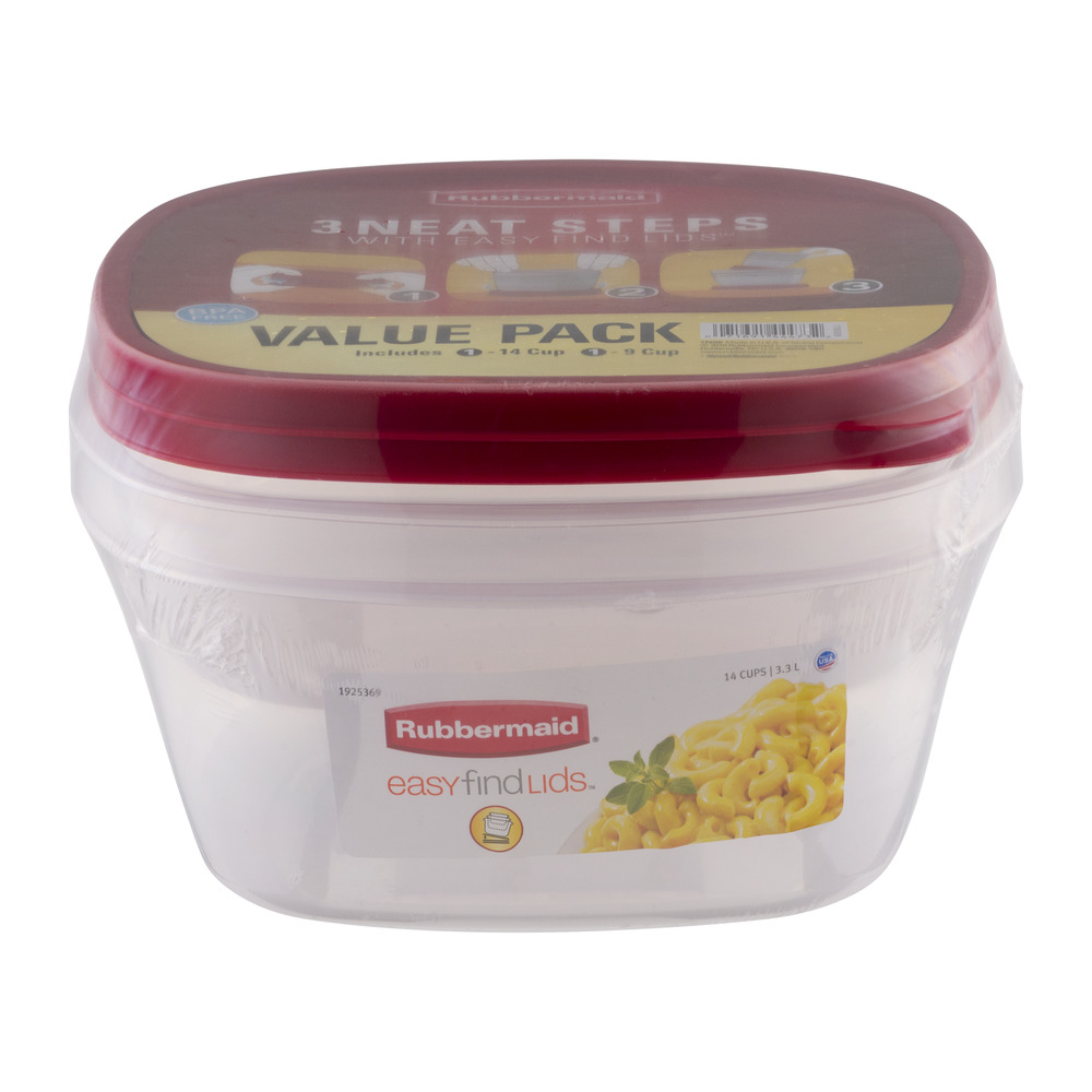 Rubbermaid Easy Find Lids Food Storage Container, 9 Cup