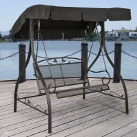 Mainstays Jefferson Wrought Iron 2-Person Outdoor Canopy ...