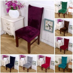 Party Chair Covers Walmart Charlotte Perriand Stretch Fox Velvet Fabric Dining Room Wedding Kitchen Home Seat Com