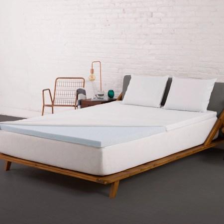 Authentic Comfort 2 Inch Fresh Gel Memory Foam Mattress Topper With Nano Tex Coolest