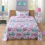 Marcielo Bed Sheets For Kids Twin Sheets For Kids Girls Boys Teens Children Sheets Soft Fitted Flat Printed Sheet Pillowcase Kids Bedding Bunk Beds Set Owl Twin Walmart Com Walmart Com