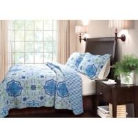Global Trends? Chelsea Blue Quilt Set - Walmart.com