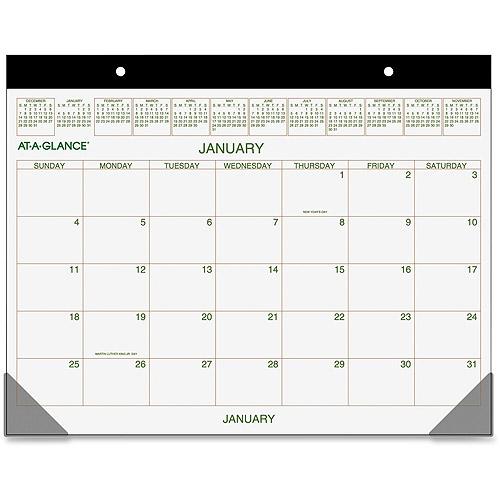 Ataglance Recycled 2color Desk Pad Calendars  Walmart