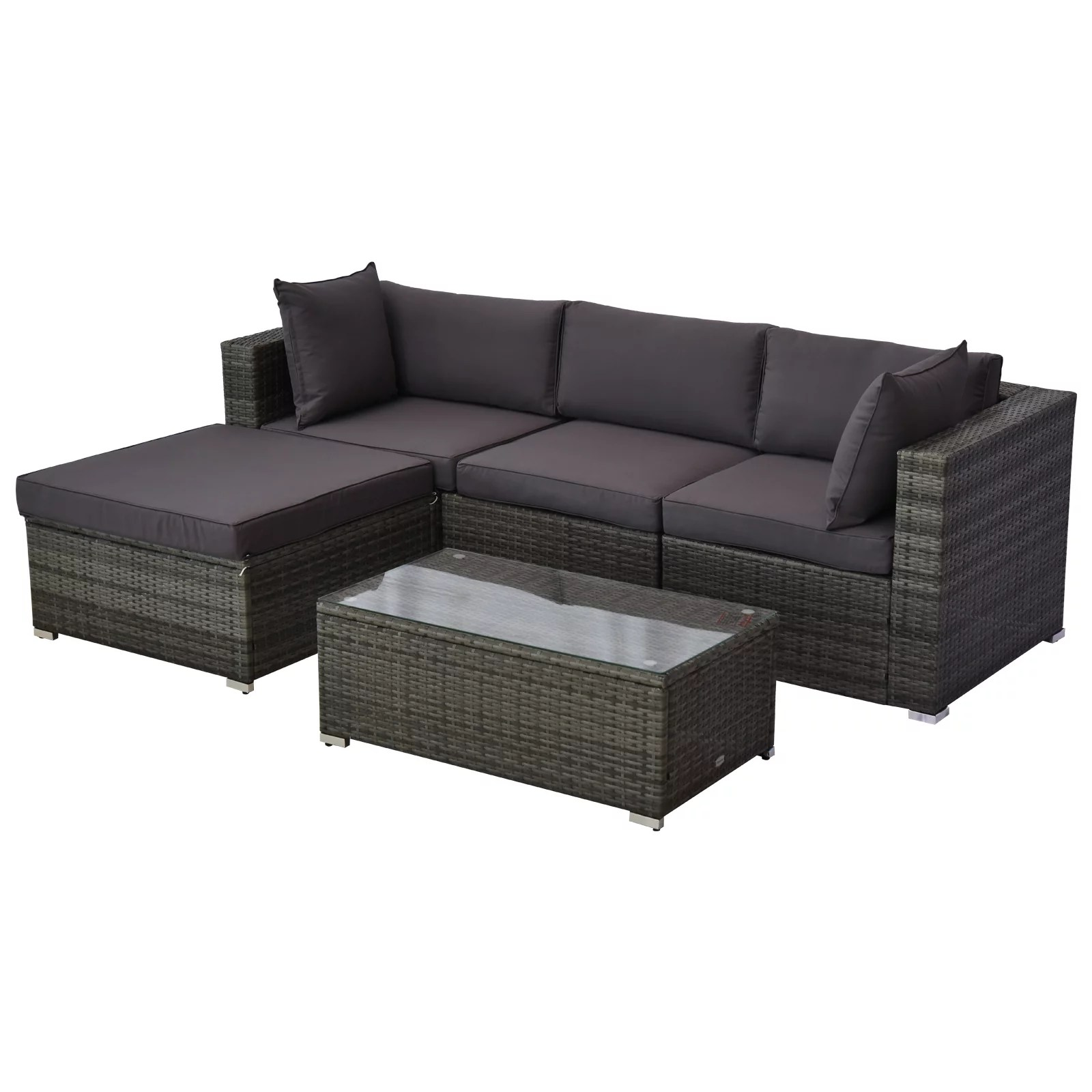 outsunny 5-piece deluxe outdoor