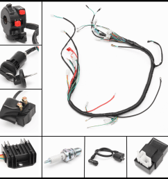 wiring motorcycleaccessorie harness loom solenoid coil rectifier cdi for automatic semi auto 200 300cc chinese atv 4 stroke quad bikes buggy 150cc quad  [ 1200 x 1200 Pixel ]