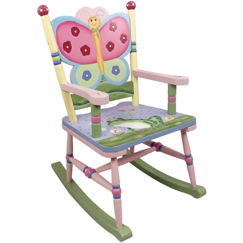 rocking chair kids eames aluminum management replica fantasy fields magic garden walmart com