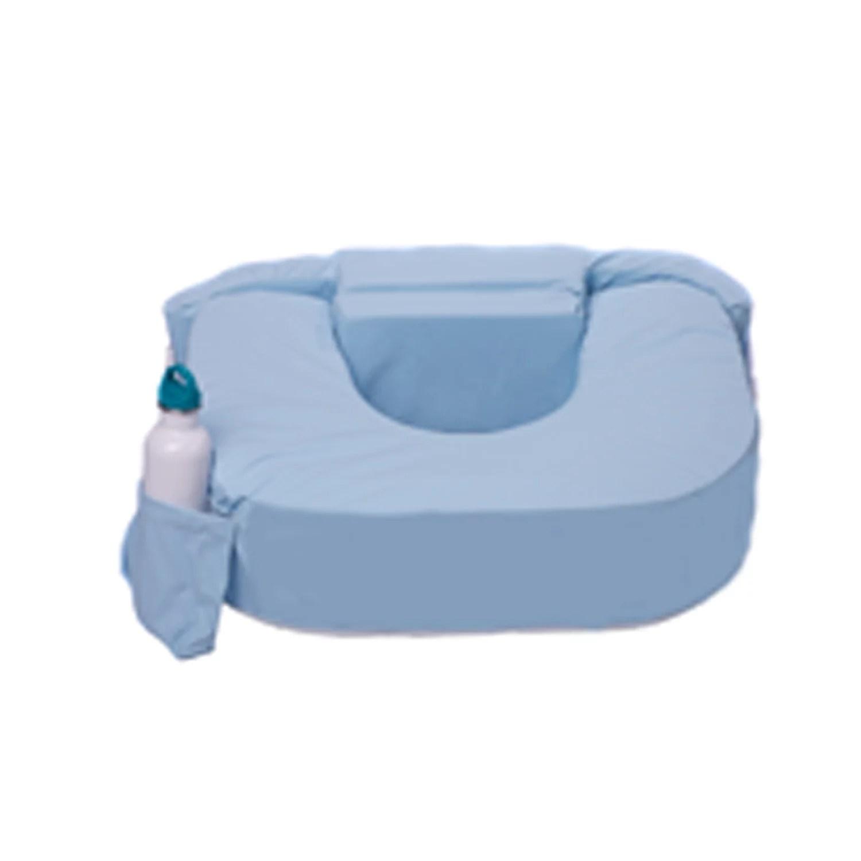 my brest friend supportive nursing pillow for twins 0 12 months plus size waterproof vinyl cover blue