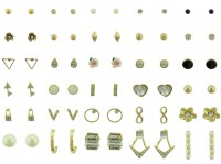 30 pair stud earring set - Walmart.com