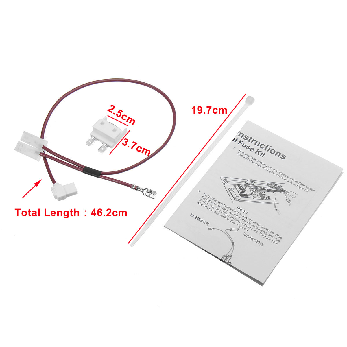 hight resolution of 675813 for whirlpool kenmore dishwasher thermal fuse link for door switch