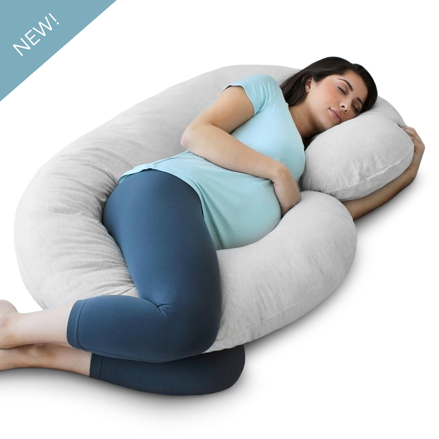 PharMeDoc Pregnancy Pillow with Jersey Cover - C Shaped ...