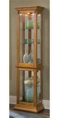 Curio Cabinet w Adjustable Shelves - Walmart.com