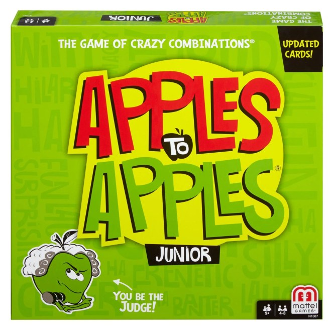 Apples to Apples Junior, Fun Family Game for 9 Year-Olds and Up