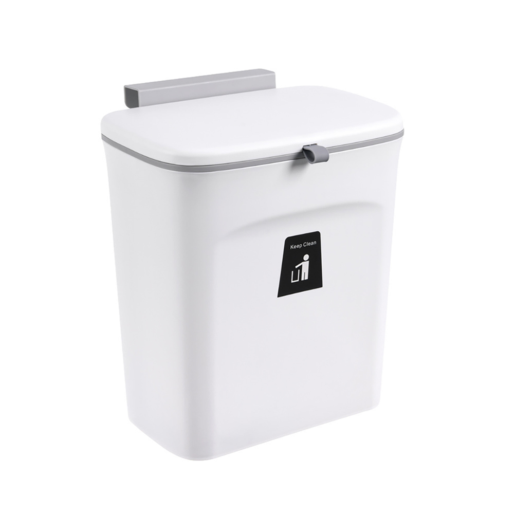 wall mounted trash bin plastic hanging trash cabinet door bin small under sink garbage can with lid for kitchen bathroom