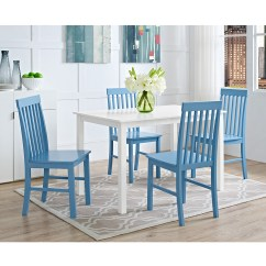 Blue And White Dining Chairs Childrens Folding 2 5 Piece Wood Kitchen Set Powder Walmart Com Departments