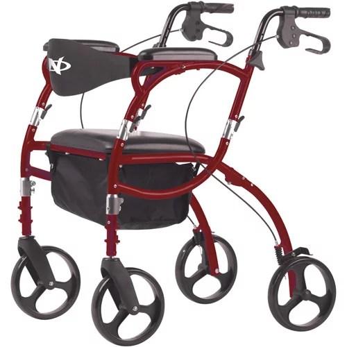 hugo navigator walker transport chair coombs valet stand combination rolling walke - walmart.com