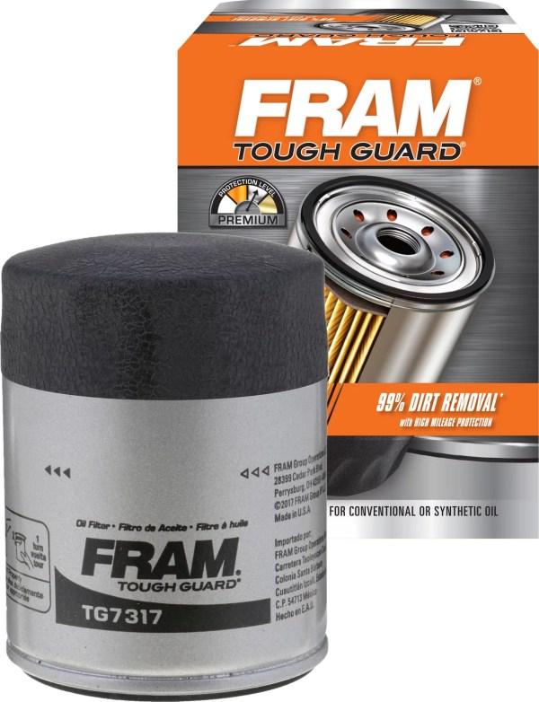 2 Pack Fram Tough Guard Oil Filter Tg7317