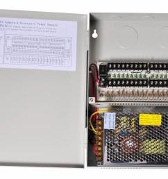 videosecu 18 channel port output 12v dc ptc fuse distributed power supply box for security cameras cctv home surveillance system c52 walmart com [ 1200 x 818 Pixel ]
