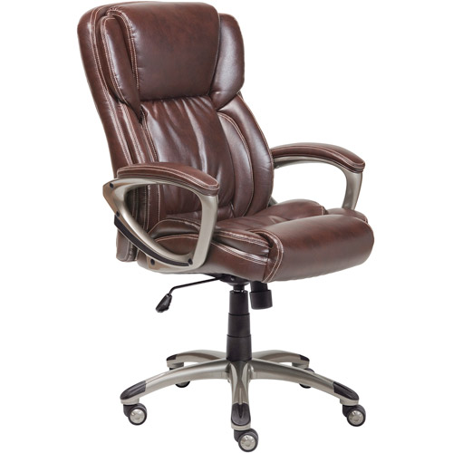 serta office chair warranty claim chairs for living room executive bonded leather biscuit brown walmart com