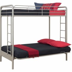 Doc Sofa Bunk Bed Usa 3 Seater Recliner Uk Convertible Futon Dorel Dhp Metal Twin Over