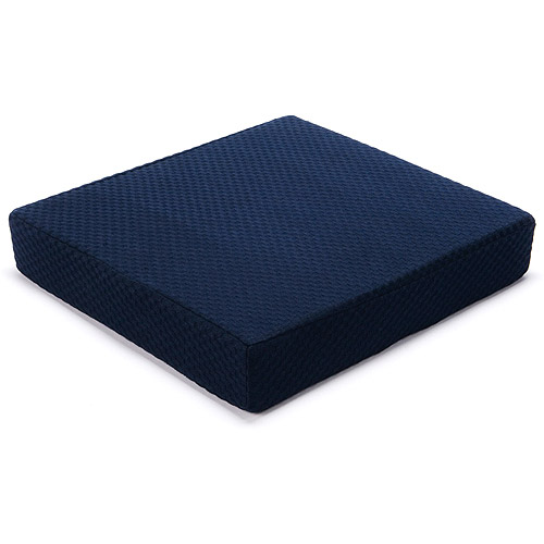 chair cushion foam white ergonomic office chairs carex seat 3 h x 16 w 18 d memory fits most wheelchairs transport provides comfort support and stability