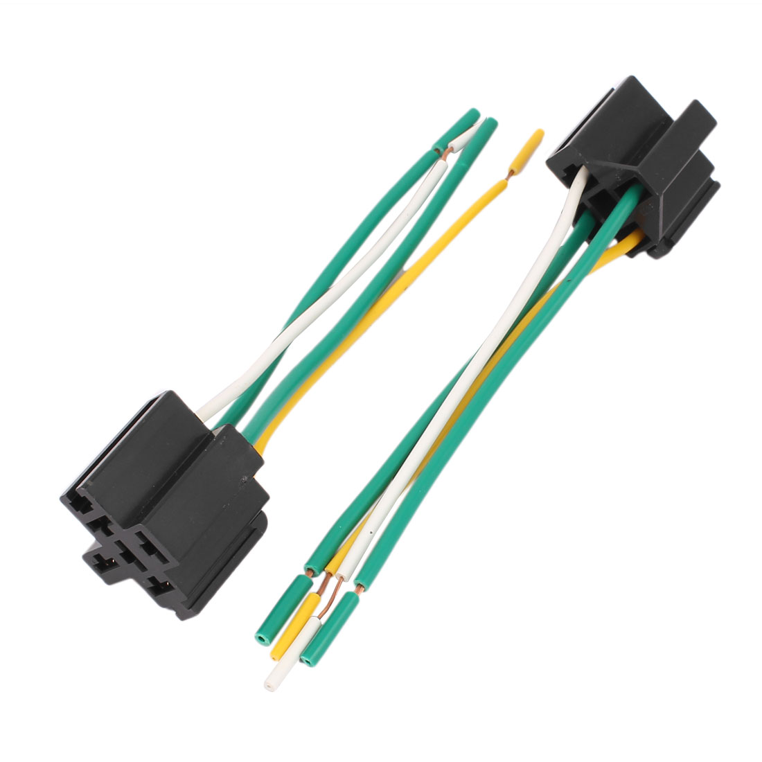 hight resolution of dc 12v 24v 40a cross type 4 pin car relay socket harness connector 5pcs