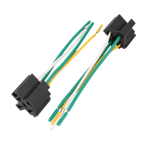 small resolution of dc 12v 24v 40a cross type 4 pin car relay socket harness connector 5pcs
