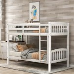 Bunk Beds Twin Over Twin Uhomepro Solid Pine Wood Twin Bunk Beds Heavy Duty Kids Bunk Beds With Three Step Stairs Guardrails Classic Twin Size Bed Frame 79 L X 42 W X 61 8 H White